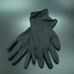 Черни ръкавици без талк 100бр.