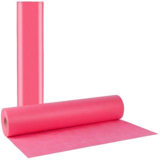 Еднократен розов TNT чаршаф 60cm./50 метра - 30гр/м2