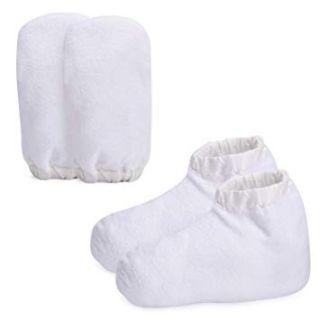Комплект хавлиени ръкавици и чорапи за парафин