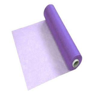 Еднократен лилав  и бял TNT чаршаф 70cm./50 метра - 30гр/м2